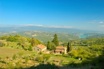 Panoramic view of Priello and the Tiber Valley